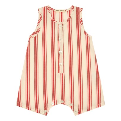 Babe & Tess Striped Playsuit-listing