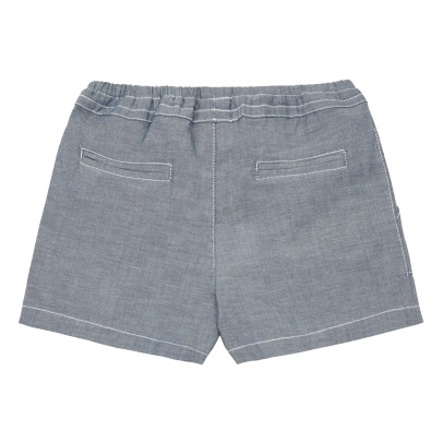 Little Karl Marc John Shorts Chambray con tasche-listing