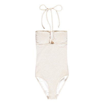 La Nouvelle Elsa Striped Lurex 1 Piece Swimsuit-listing
