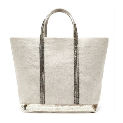Vanessa Bruno Sequin Large Linen Shopper-listing