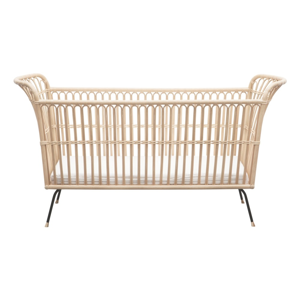 babybett frederick aus rattan handgefertigt 60x120 cm natur. Black Bedroom Furniture Sets. Home Design Ideas