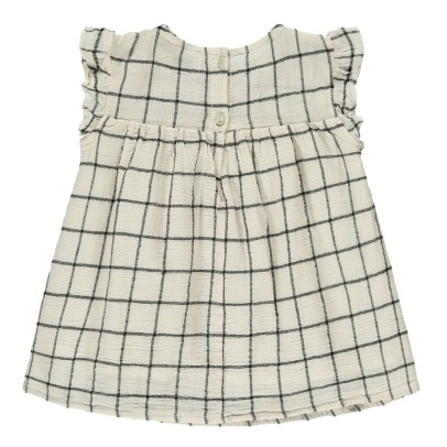 Buho Georgine Ruffled Check Dress-listing