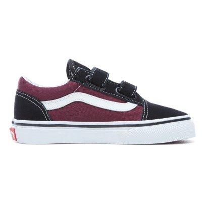 Vans Old Skool Suede and Canvas Velcro Trainers-listing