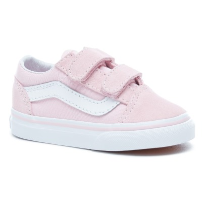 Vans Baskets con velcro in pelle e tela Old Skool-listing