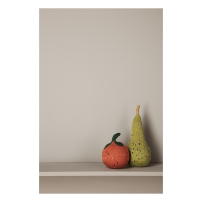 Ferm Living Kids Culbuto Fruiticana tricoté en coton organique Orange-listing