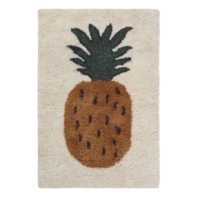 Ferm Living Kids Fruiticana Pineapple Woolen Rug-listing