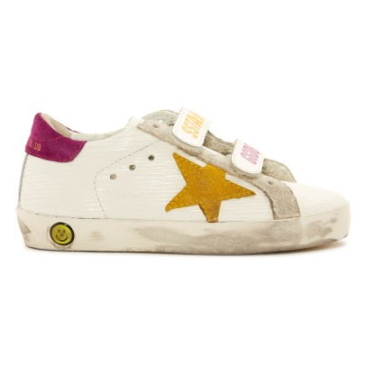 Golden Goose Deluxe Brand Sneakers basse in pelle con velcro Superstar Old School-listing