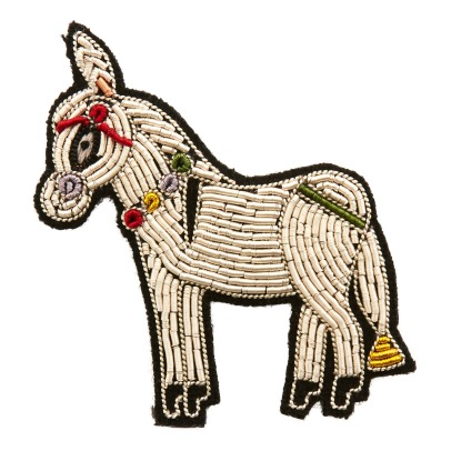 Macon & Lesquoy Embroidered Greek Mule Brooch-listing