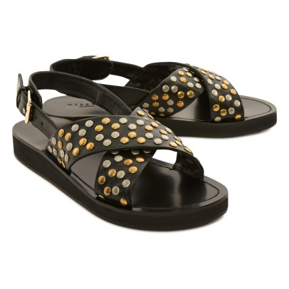 Masscob Leather Studded Sandals-listing