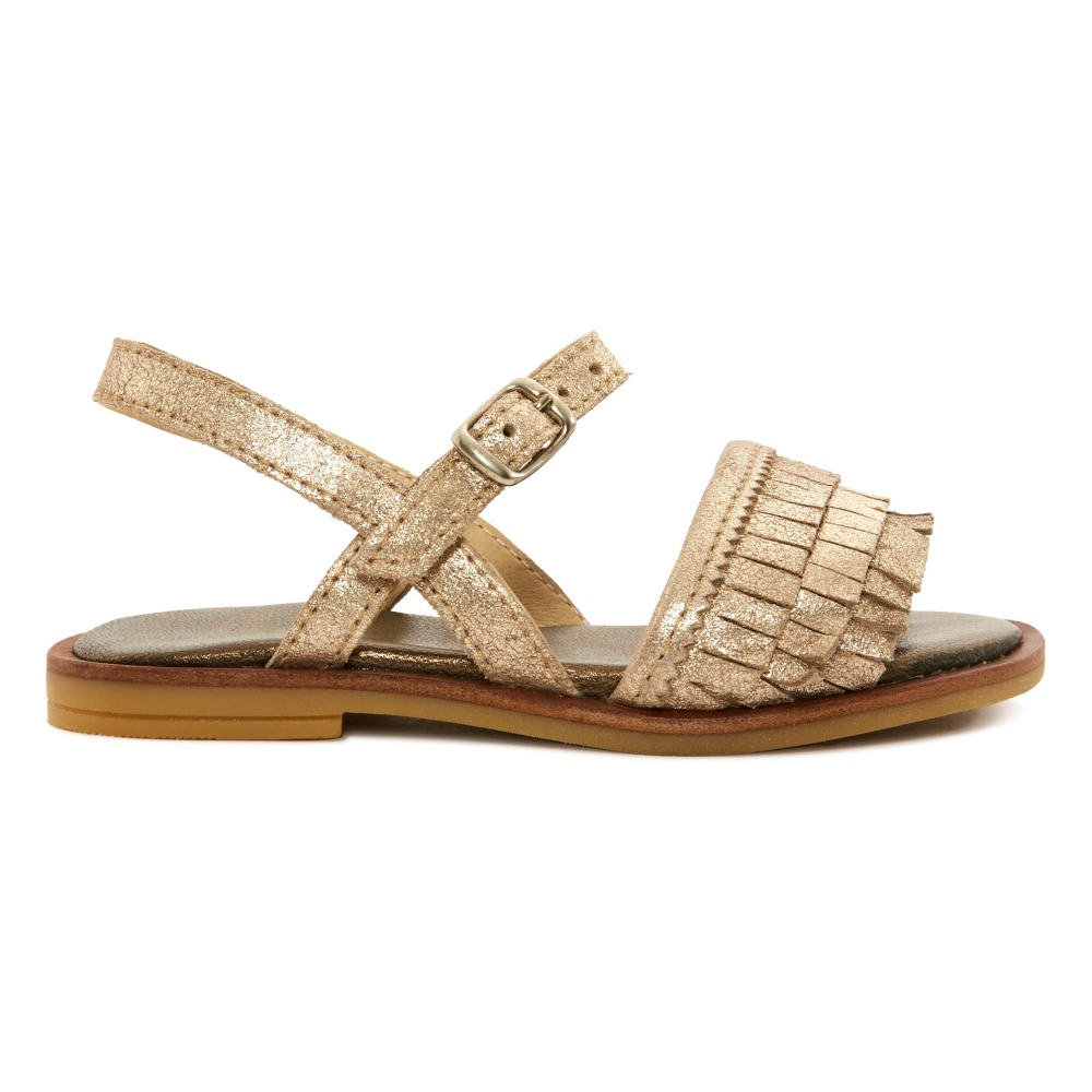 Sale - Poppy Strap Velcro Iridescent Leather Sandals - Pom dApi Pom dApi ZAvlV