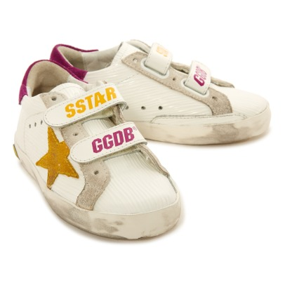 Golden Goose Deluxe Brand Baskets Basses Cuir Scratchs Superstar Old School-listing
