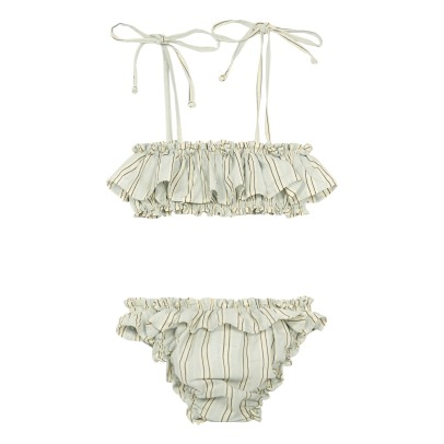 Babe & Tess Striped 2 Piece Swimsuit-listing