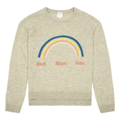 Little Karl Marc John Mibowy Rainbow Cotton and Cashmere Jumper-listing
