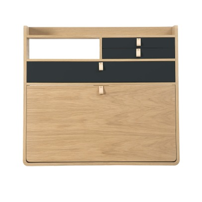 Hartô Gaston Wall Mounted Oak Desk - 80cm Florence Watine - Chalkboard Grey-product