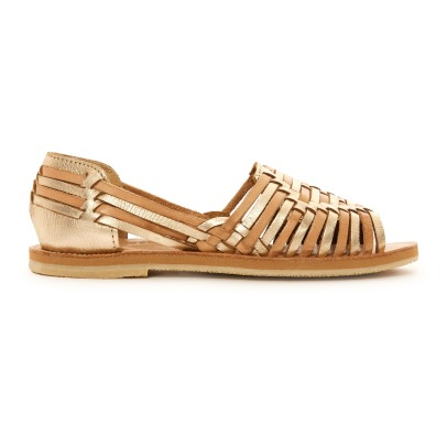 Leon & Harper Chiapa Plaited Leather Flat Sandals-listing