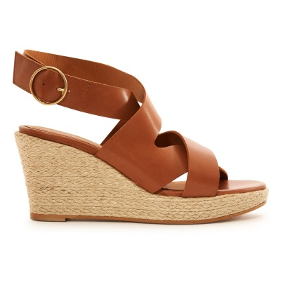 Rivecour Crossed Leather Wedges-listing