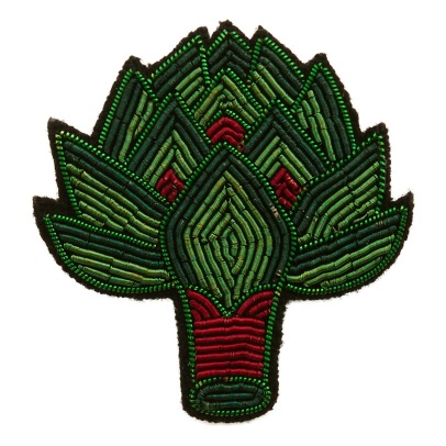 Macon & Lesquoy Embroidered Artichoke Brooch-listing