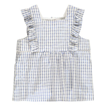 Little Karl Marc John Cichy Lurex Gingham Ruffled Top-listing
