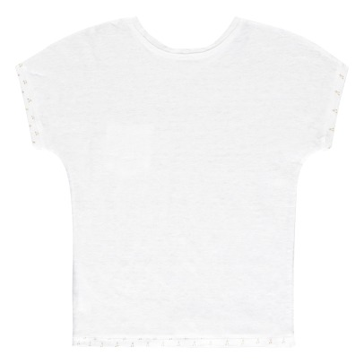 Little Karl Marc John T-Shirt in lino con tasca Tutty-listing