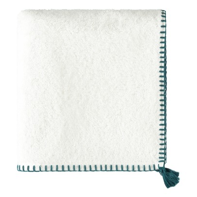 Harmony Cotton Pompom Bath Towel-listing
