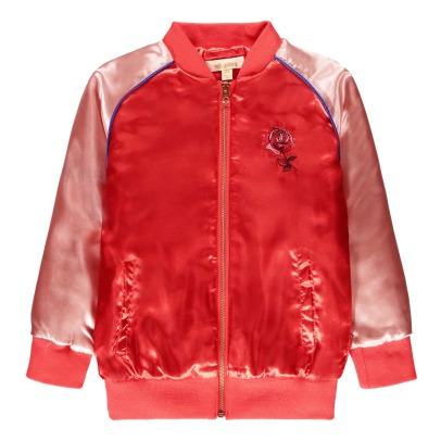Soft Gallery Sandy Embroidered Back Satin Bomber Jacket-listing