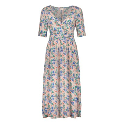 Des petits hauts Tango Flower Print Belted Viscose Dress-listing