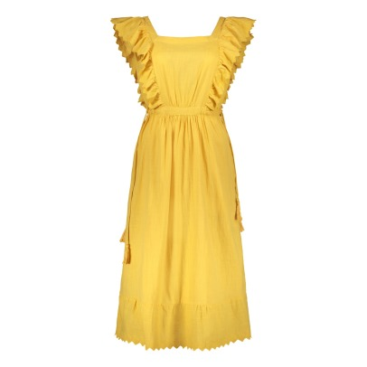 Leon & Harper Royal Ruffle Embroidered Maxi Dress-listing