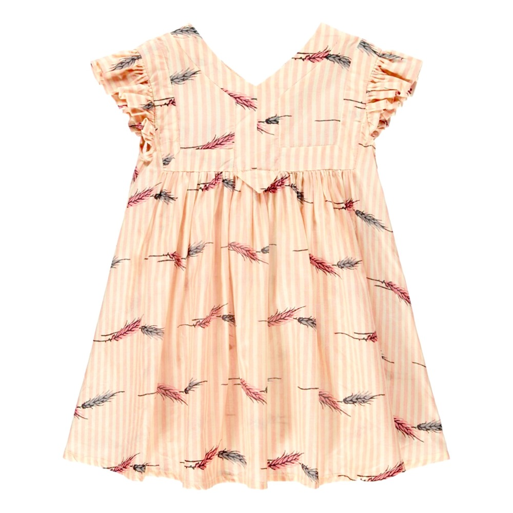 Kleid mit Streifen Epis de Blé Honey Blassrosa Morley Mode Kind