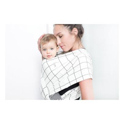 Portebébé Stripes En Coton Bio Blanc Studio Roméo Design - Porte bebe studio romeo