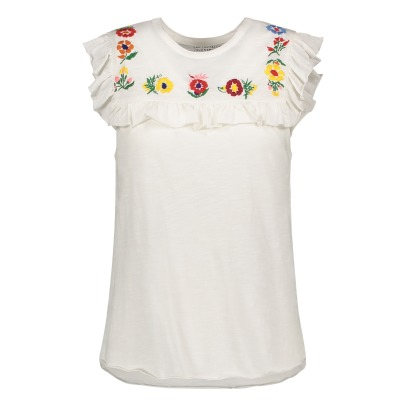 Leon & Harper Trinidad Embroidered Organic Cotton T-Shirt-listing