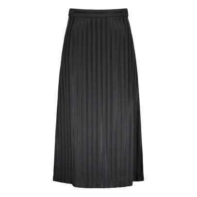 Masscob Cupro Striped Maxi Dress-listing