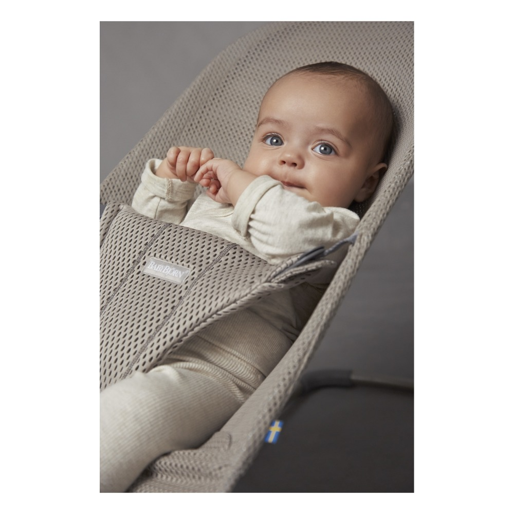 bliss mesh baby bouncer oatmeal babybjörn design baby
