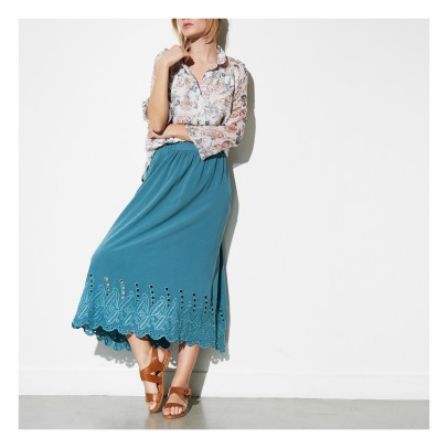 Louise Misha Seau Cotton and Linen Maxi Skirt - Women's Collection-listing