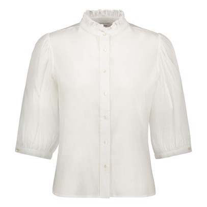 Polder Simon 3/4 Sleeve Buttoned Blouse-listing
