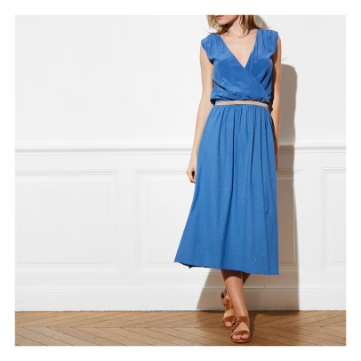 Pomandère Recto Verso Cotton and Linen Maxi Dress-listing