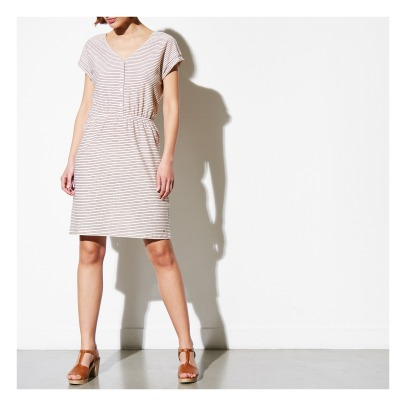 Des petits hauts Izala Striped Lurex Dress-listing