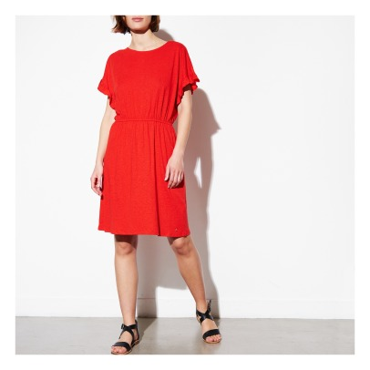Des petits hauts Joakimi Ruffled Linen and Viscose Dress-listing