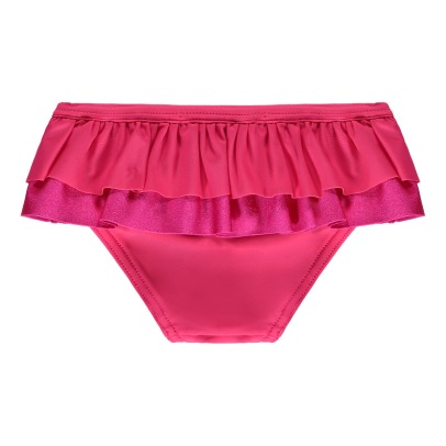 Lison Paris Iridescent Double Ruffle Plain Swimming Bottoms-listing