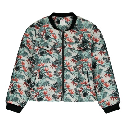 Little Karl Marc John Jacquard Tropical Baty Teddy Jacket-listing