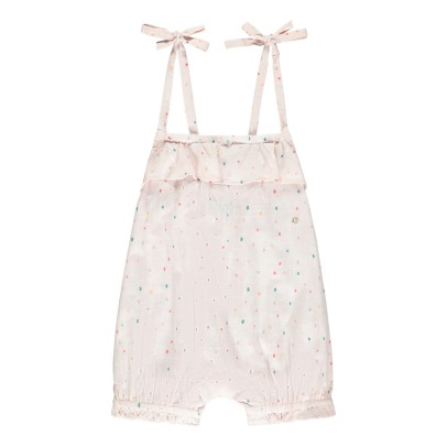 Lulaland Mila Organic Cotton Dot Playsuit-listing