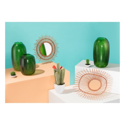 Klevering Bamboo Round Mirror-listing