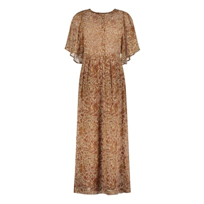Masscob Flower Cotton and Silk Maxi Dress-listing