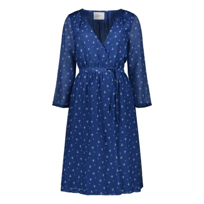 Leon & Harper Rhubarbe Dot Wrap Dress-listing