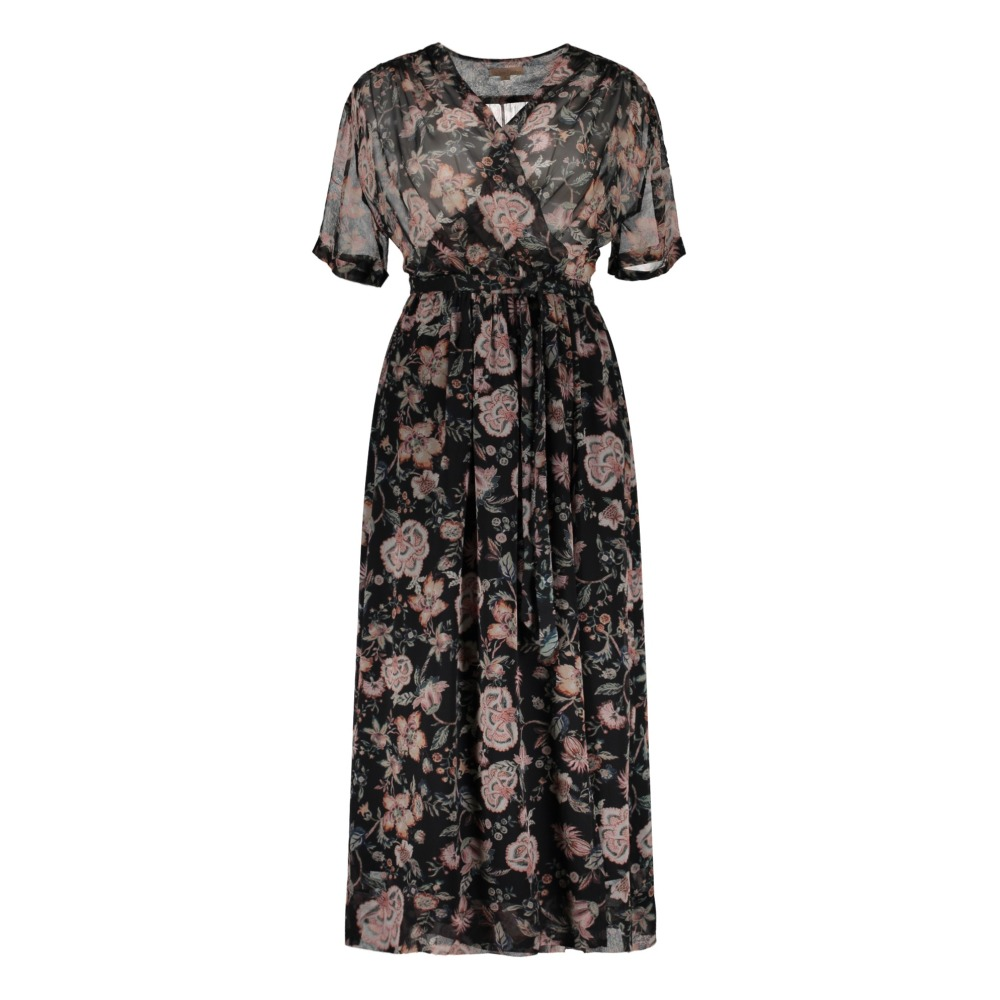 Robe Soie Fleurie Aster - Collection Femme --product