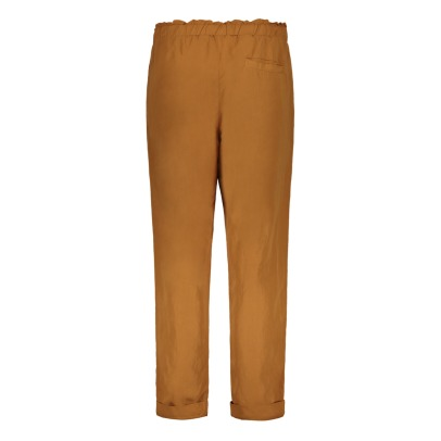 Pomandère Viscose and Linen Loose Trousers-listing