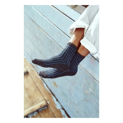 Beck Sönder Gaard Dean Wipe Striped Socks-listing