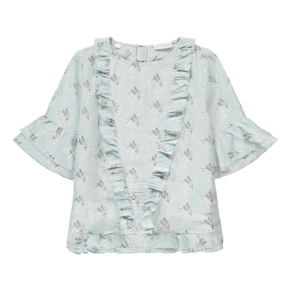 Helena flower blouse light blue les coyotes de paris women helena flower blouse product mightylinksfo