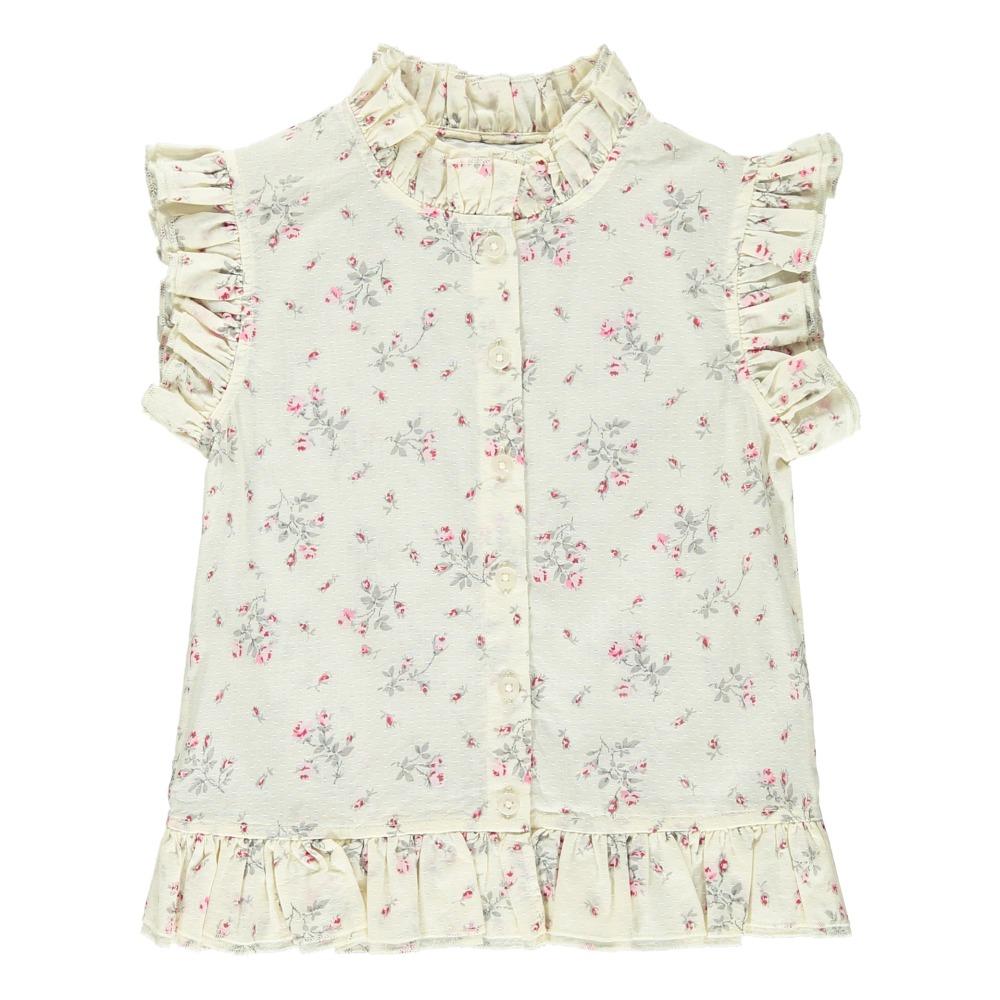 Laila flower blouse ecru les coyotes de paris fashion teen laila flower blouse product mightylinksfo