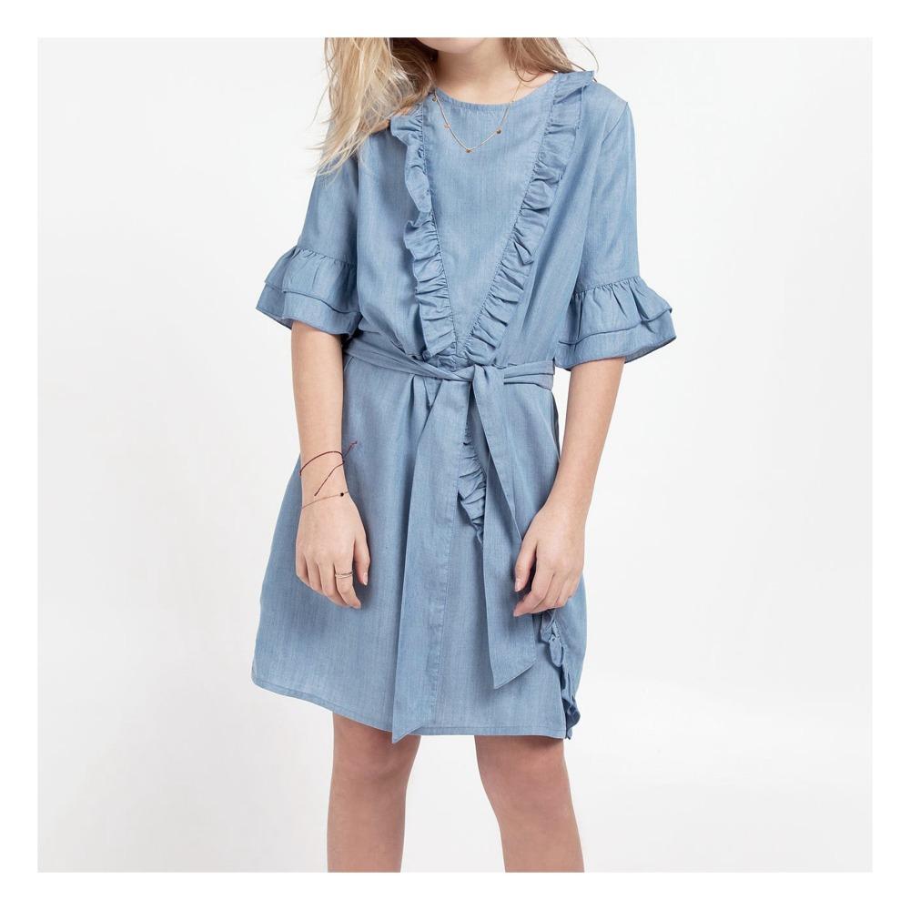 Odina Chambray Ruffled Dress-product