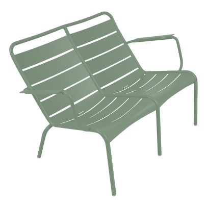 Fermob Luxembourg Low Aluminium Duo Armchair -listing
